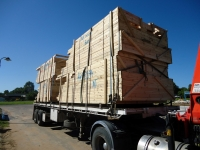 Delivery of timber in Middlemount