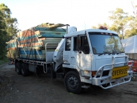 Flatbed delivery of timber