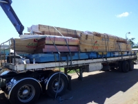Oversize load of timber
