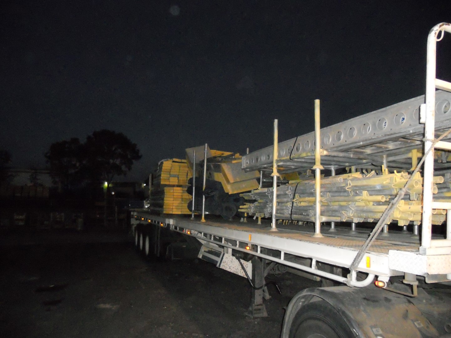 Night delivery of steel & timber